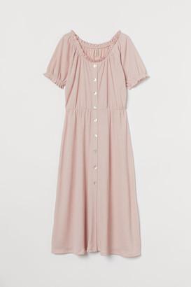 H&M Button-front Dress - Pink