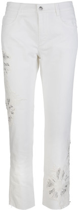 Ermanno Scervino Woman Boyfriend Jeans With Applications