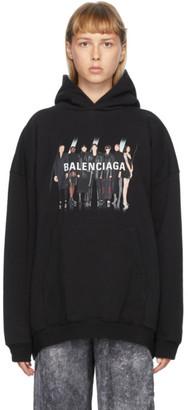 Balenciaga Black Large Fit Real Hoodie
