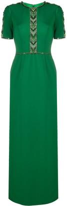 Jenny Packham Carlene chevron beaded gown