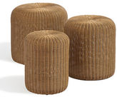 Distinctly Home Set of Three Nested Wicker Seats