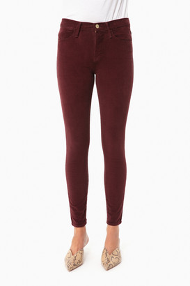 Frame Bordeaux Le High Skinny Cord