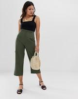 Miss Selfridge high waisted khaki trousers
