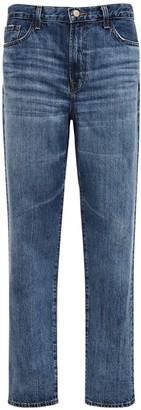 J Brand Tate Mid Rise Boyfriend Dehim Jeans