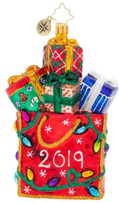 Christopher Radko 2019 Goodie Bag Ornament