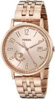 Fossil Women's ES3789 Vintage Muse Analog Display Quartz Rose Watch