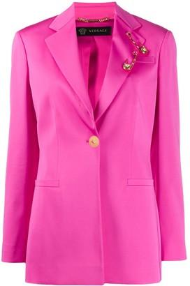 Versace Pin Embellished Blazer