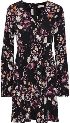 By Ti Mo Floral-print Crepe De Chine Dress