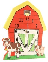 The Well Appointed House Teamson Design Happy Farm Wall Clock for Kids