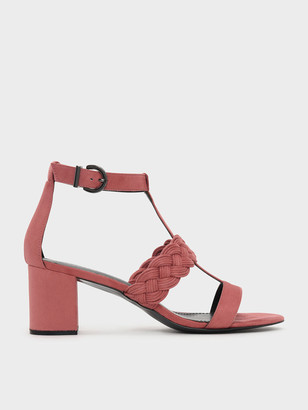 Charles & Keith Braid Detail Caged Heeled Sandals