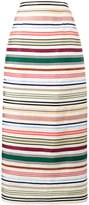 Rosie Assoulin Ribbon Rainbow stripe skirt