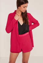 Missguided Suit High Waisted Shorts Pink