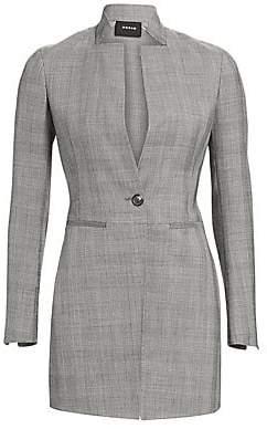 Akris Women's Prince Of Wales Stretch Wool Blazer Jacket