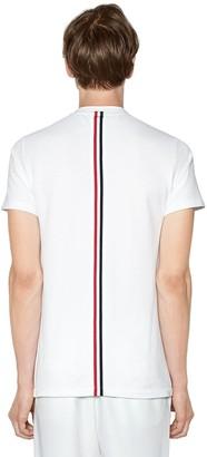 Thom Browne Intarsia Band Cotton Jersey T-Shirt