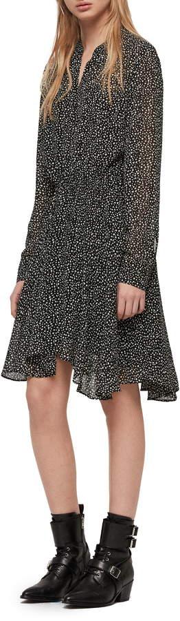AllSaints Martina Splash Print Dress