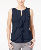 Tommy Hilfiger Jane Sleeveless Ruffled Top