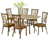 Hillsdale Furniture Brookside 7-Piece Rectangle Dining Set With Oval Back Chairs in Brown