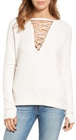 Pam & Gela Women's Lace-Up Pullover