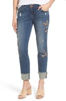Women's Wit & Wisdom Flex-Ellent Embroidered Boyfriend Jeans