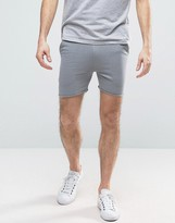 Asos Super Skinny Shorts With Raw Edge