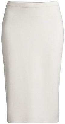 Eileen Fisher Silk & Organic Cotton Interlock Midi Skirt