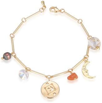 Eye Candy Los Angeles Libra Natural Stone Charm Bracelet