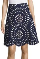 Kas Geometric Cutout Skirt