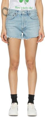 AGOLDE Blue Parker Vintage Shorts