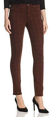 AG Jeans Prima Skinny Jeans in Rich Crimson/Black Plaid - 100% Exclusive