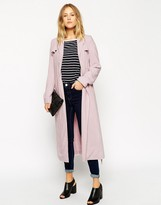 Asos Trench With Tab Detail