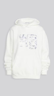 Alexander Wang Hooded Sweatshirt with Embroidered Money