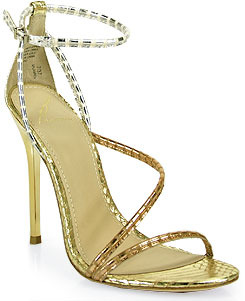 Brian Atwood B by Labrea - Stiletto Sandal in Gold