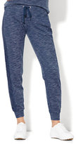 New York & Co. Lace-Trim Jogger - Soft Blue Wash