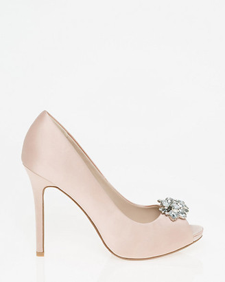 Le Château Embellished Satin Peep Toe Pump