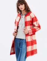 Maison Scotch Bonded Wool Check Coat