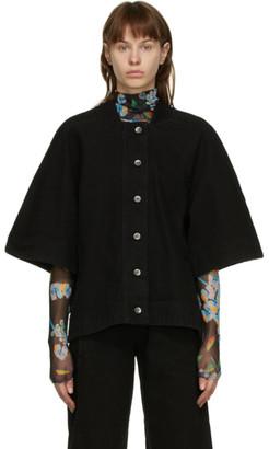 Henrik Vibskov Black Denim Sponge Jacket