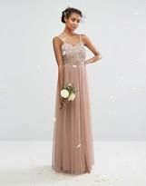 Maya Embellished Tulle Maxi Dress