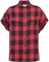 R 13 shortsleeved plaid shirt