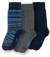 Jockey Mens Multi Stripe/Mini Square Crew- 3 Pack