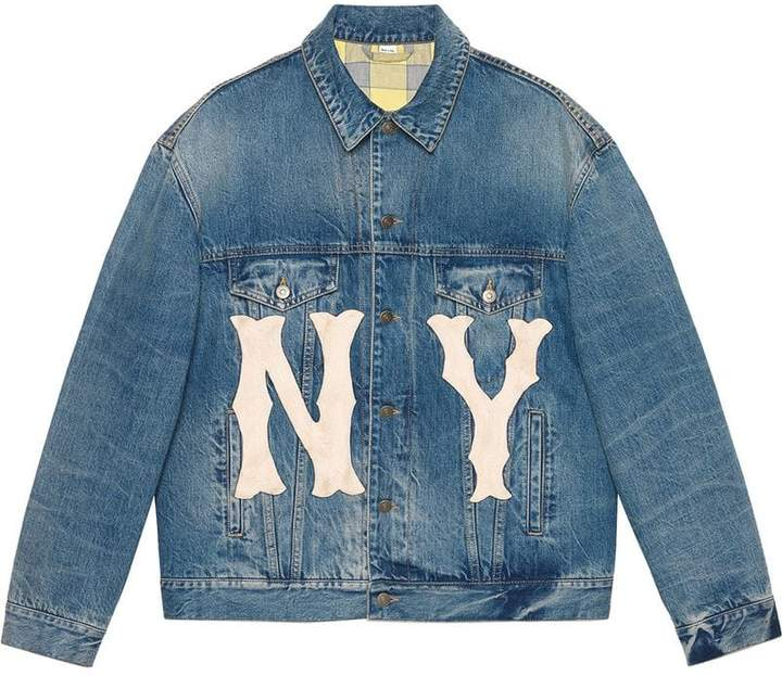 Gucci Denim jacket with NY YankeesTM patch
