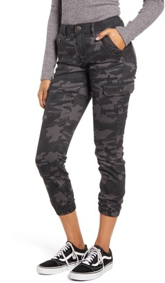 Prosperity Denim Camo Zip Pocket Denim Joggers
