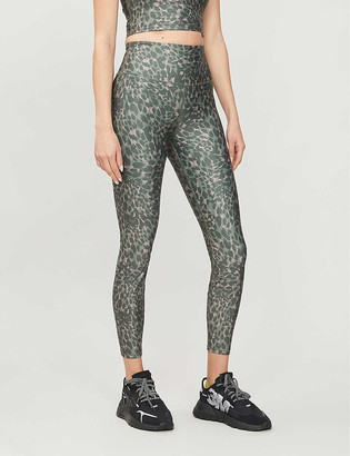 Good American Leopard-print stretch-woven leggings