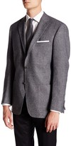 Hart Schaffner Marx Grey Two Button Notch Lapel Wool Suit Separates Jacket