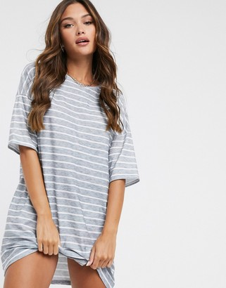 Street Collective oversized t-shirt dress in stripe