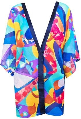 Art Inspired Beach Cover-Up Kimono - Enchanted