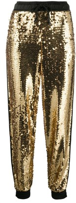 Versace Sequinned Tapered Trousers