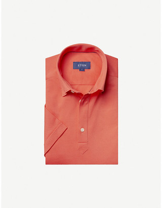 Eton Short-sleeved cotton-pique polo shirt