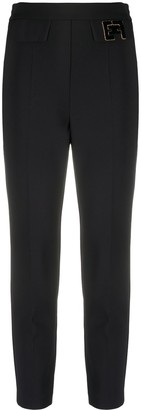 Elisabetta Franchi Slim Fit Cropped Trousers