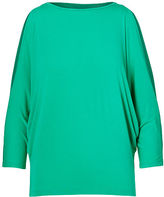Ralph Lauren Petite Cutout-Shoulder Jersey Top