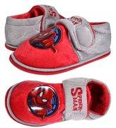 Spiderman Marvel Boys Fleece Winter Velcro Slippers UK 7 EU 23.5